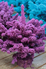 sapin floqué violet