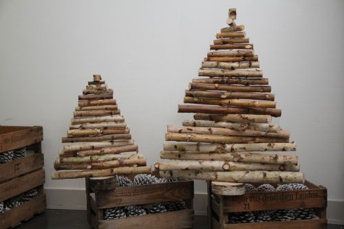 decoration noel sapin en bois